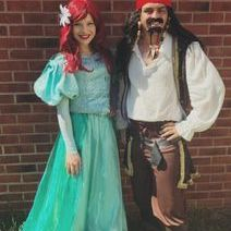 The Little Mermaid and Pirate Character entertainers
