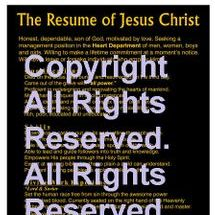 11 x 17 Black and Gold The Resume of Jesus Christ  Christian Poster