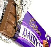 Cadbury chocolate bar with opened wrapper