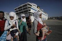 refugees on the Greek islands