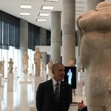 President Obama athe Acropolis Museum , Athens