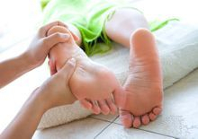 reflexology treats the whole body - foot massage