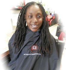 """Natural Dreadlocks re-attached to client natural hair that was about 10"""" long."""