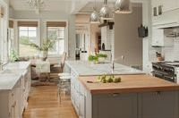Kitchen remodeled in Grey