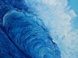 One of my early surfing wave paintings
