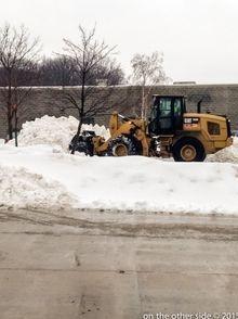 Snow Hauling  loader
