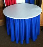 White Round Plastic Elastic Table Cover