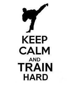 keep calm train hard