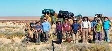 Yoga Camel Trekking Group Safaris. Outback Australian Camels, Flinders Ranges, South Australia