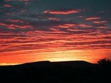 Flinders Ranges Sunset. Camel Treks sunset spectacular in Australia