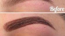 Eyebrows tinted
