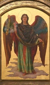 Old Angel Picture of Archangel Raphael