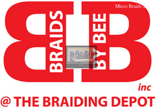 Braids By Bee Logo and store front