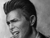 Charcoal drawing of David Bowie