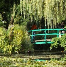 "ours.jpg alt=womens travel, japanese bridge, monets garden, giverny, france"">"