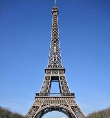 "src=""australian womens travel.jpg alt=womens travel,eiffel tower in the distance with blue sky, paris france """