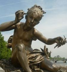 "src=""australian womens travel.jpg alt=womens travel,bronze statue on bridge  , paris france """