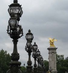 "src=""australian womens travel.jpg alt=womens travel,streetlamos on pont alexander the third , paris france """