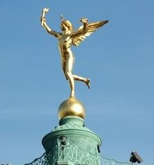 "src=""australian womens travel.jpg alt=womens travel,goledn statue, bastille , paris france """