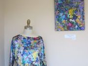 A Kiss of the orchid silk printed top and art