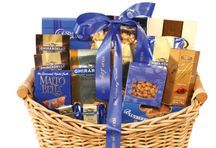 Thank you ,Appreciate, Get Well, Sympathy gift basket full of  Delectable gourmet gifts.