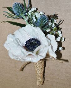 rustic anemone boutonniere