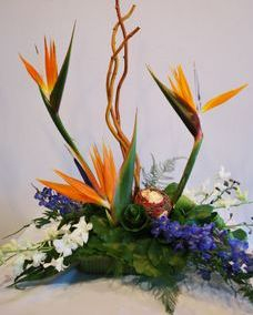 tropical funeral flowers