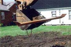 Hall's Gradeblade Excavator and Backhoe Attachment