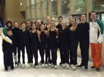 Our elite skaters at morning training