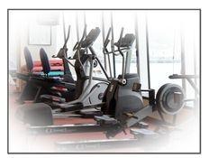 Gym, cardio, elliptical trainer