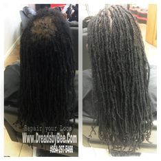 Braids By Bee created techniques that allows her to Reattach natural dreadlocks professionally and undetectable repairs.