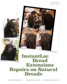 Braids by bee well known to cover up balding areas with her Locs.