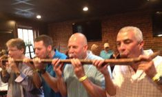 Nashville corporate party doing a shotski