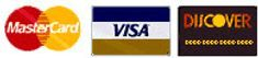 We accept Mastercard, Visa, and Discover for our products of the Tampa Bay Area at Savich and Lee Fence