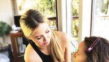Our esthetician in action