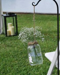 Baby's breath in mason jar