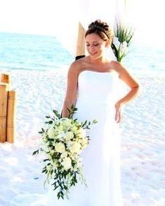 Fort Walton Beach Wedding, orchid & rose bridal bouquet