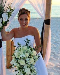 Fort Walton Beach Wedding, rose & orchid bridal bouquet