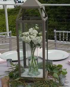 Lantern with white stock
