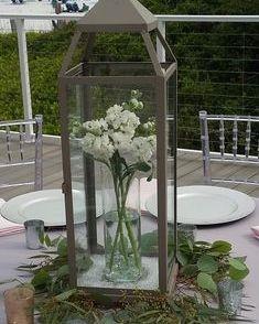 Lantern with white stock