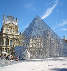 "src=""australian womens travel.jpg alt=womens travel,glass pyramid at the louvre , paris france """