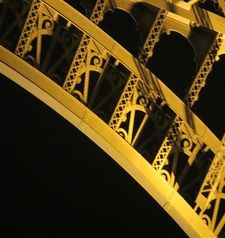 "src=""australian womens travel.jpg alt=womens travel,eiffel tower detail at night , paris france """