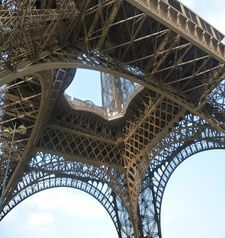 "src=""australian womens travel.jpg alt=womens travel,detail of first floor , eiffel tower , paris france """