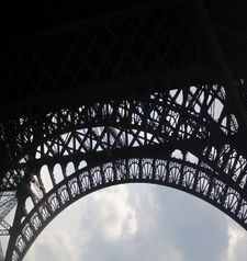 "src=""australian womens travel.jpg alt=womens travel,eiffel tower steelwork in silhoette , paris france """