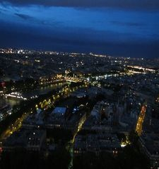 "src=""australian womens travel.jpg alt=womens travel,view from eiffel tower at night , paris france """