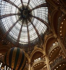 "src=""australian womens travel.jpg alt=womens travel,view of glass roof, galleries lafayette , paris france """