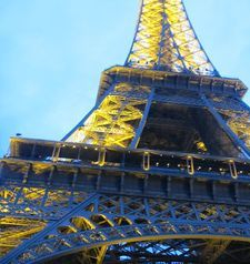 "src=""australian womens travel.jpg alt=womens travel,eiffel tower at twilight , paris france """