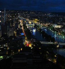 "src=""australian womens travel.jpg alt=womens travel,night time vista from eiffel tower , paris france """