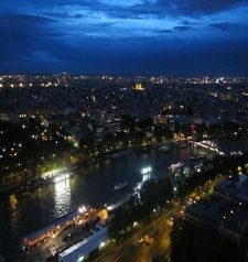 "src=""australian womens travel.jpg alt=womens travel,overlooking paris form the eiffel tower , paris france """