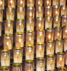 "src=""australian womens travel.jpg alt=womens travel,prayer candles, notre dame , paris france """